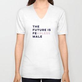 The Future is Female #girlboss #empowerwomen Unisex V-Neck