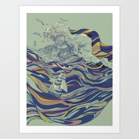 OCEAN AND LOVE Art Print