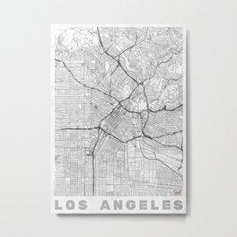 Los Angeles Map Line Metal Print