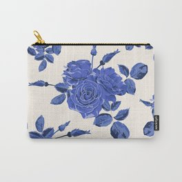 Seamless blue roses pattern Carry-All Pouch