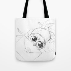 Little owl, Pigwidgeon, flying with a letter Tote Bag