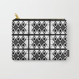 white and black bricks Carry-All Pouch