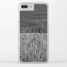 Cattails and reeds in the marsh Clear iPhone Case