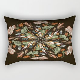 Flemish Floral Mandala 3 Rectangular Pillow