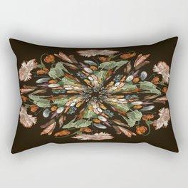 Flemish Floral Mandala 3 Rectangular Pillow