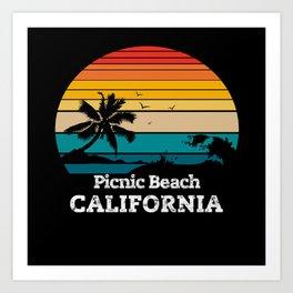 Picnic Beach CALIFORNIA Art Print