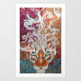 Cnnamon Buns and Dragons II Art Print