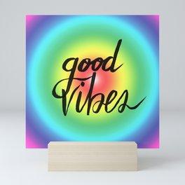 Good Vibes - Rainbow Pride Mini Art Print