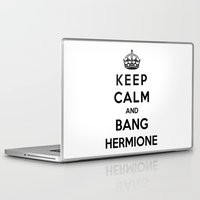 hermione Laptop & iPad Skins featuring Keep Calm And Bang Hermione by Funky House