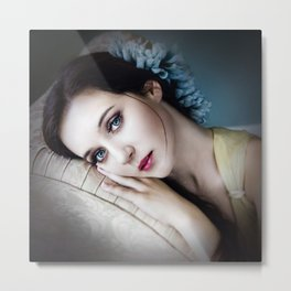 Flowers to Match Her Eyes Metal Print