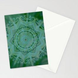 Green Swirl Mandala II Stationery Cards