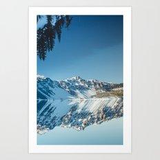 Crater Reflection Art Print