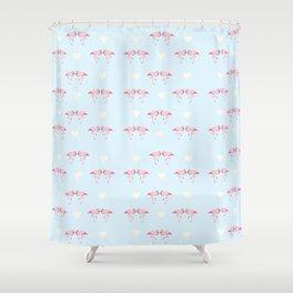 "Collection ""Love Birds"" impression ""Loving Flamingo"" Shower Curtain"