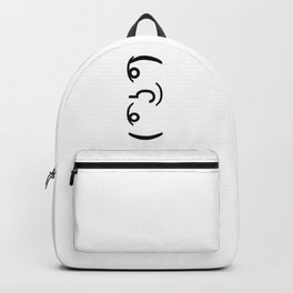 ( ͡° ͜ʖ ͡°) Funny Emoticon Face Backpack