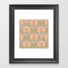Get Out Of My Flowers You Idiot Birds Framed Art Print