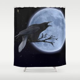 Raven Speak Shower Curtain