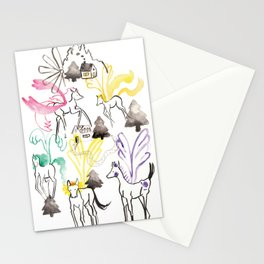 Pegasus in the forest Stationery Cards