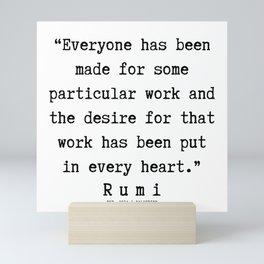 108    Rumi Quotes   190221 Mini Art Print