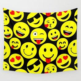 Emoticon Faces Emoticon Smiley Symbols Design Wall Tapestry