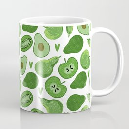 Green fruits and vegetables Coffee Mug
