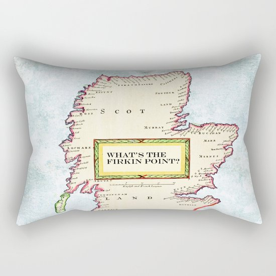 The Scottish Question Pictorial version Rectangular Pillow