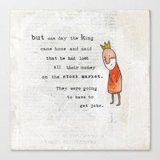 Princess and the Pots page 7 alternative version Canvas Print