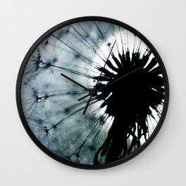 dandelion grey II Wall Clock