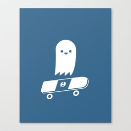 Skate Ghost Canvas Print