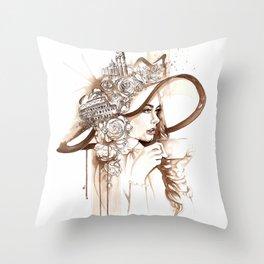 Bell'Italia - Miss Rome Throw Pillow