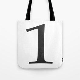 Number 1 (Black) Tote Bag