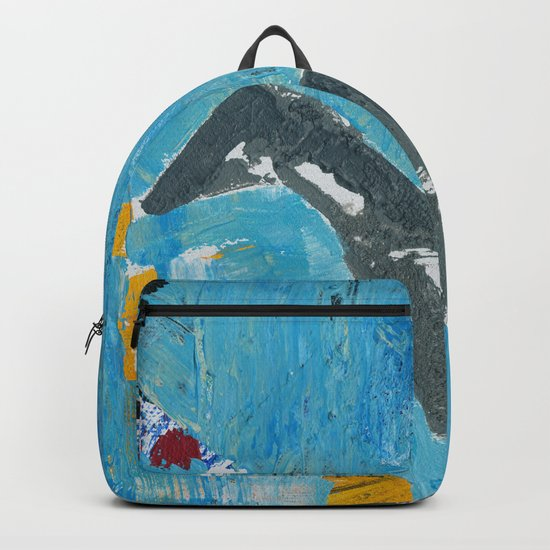 Greyhound Dog Abstract Painting Backpack