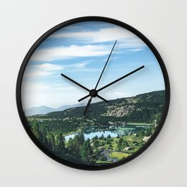 """Beautiful lake and  landscape scenery from """"El Carlit"""" in the Pyrenees! Wall Clock"""