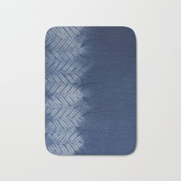 Shibori Chevron Stripe Bath Mat