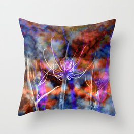 Floral Cloud Spectacle Throw Pillow