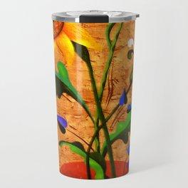 Vertical bouquet. Flowers. Travel Mug