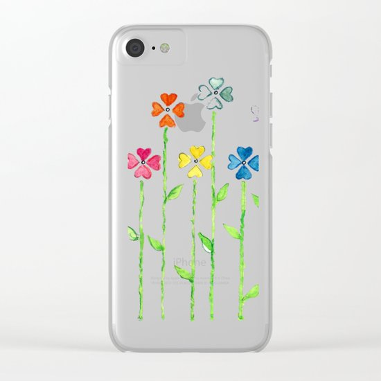 Inch by Inch, Row by Row Clear iPhone Case