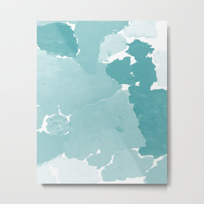 Aerin - abstract minimal painting decor for dorm college office gender neutral cool colors Metal Print