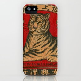 Vintage Matchbox Tiger iPhone Case