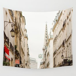 On Paris Time Wall Tapestry