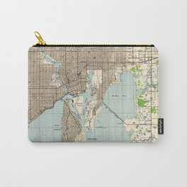 Vintage Map of Tampa Florida (1944) Carry-All Pouch