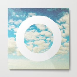 Circle Sky Faded Metal Print