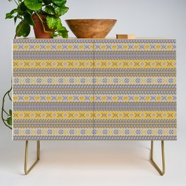 Granny's Fairisle - Honey Yellow Credenza