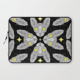 Sphynx Cat Black Pattern Laptop Sleeve