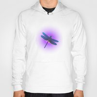dragonfly Hoodies featuring Dragonfly by JT Digital Art