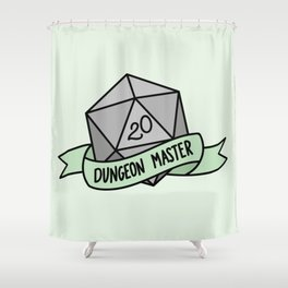 Dungeon Master D20 Shower Curtain