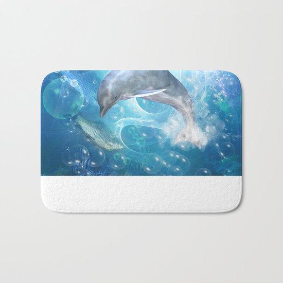 Cute dolphin Bath Mat