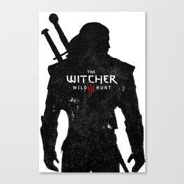 Geralt Silhouette Canvas Print