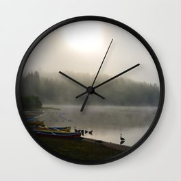 Misted Morning Wall Clock