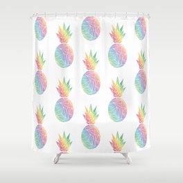Billy Rays Pineapple Shower Curtain
