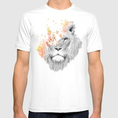 If I roar (The King Lion) White LARGE Mens Fitted Tee